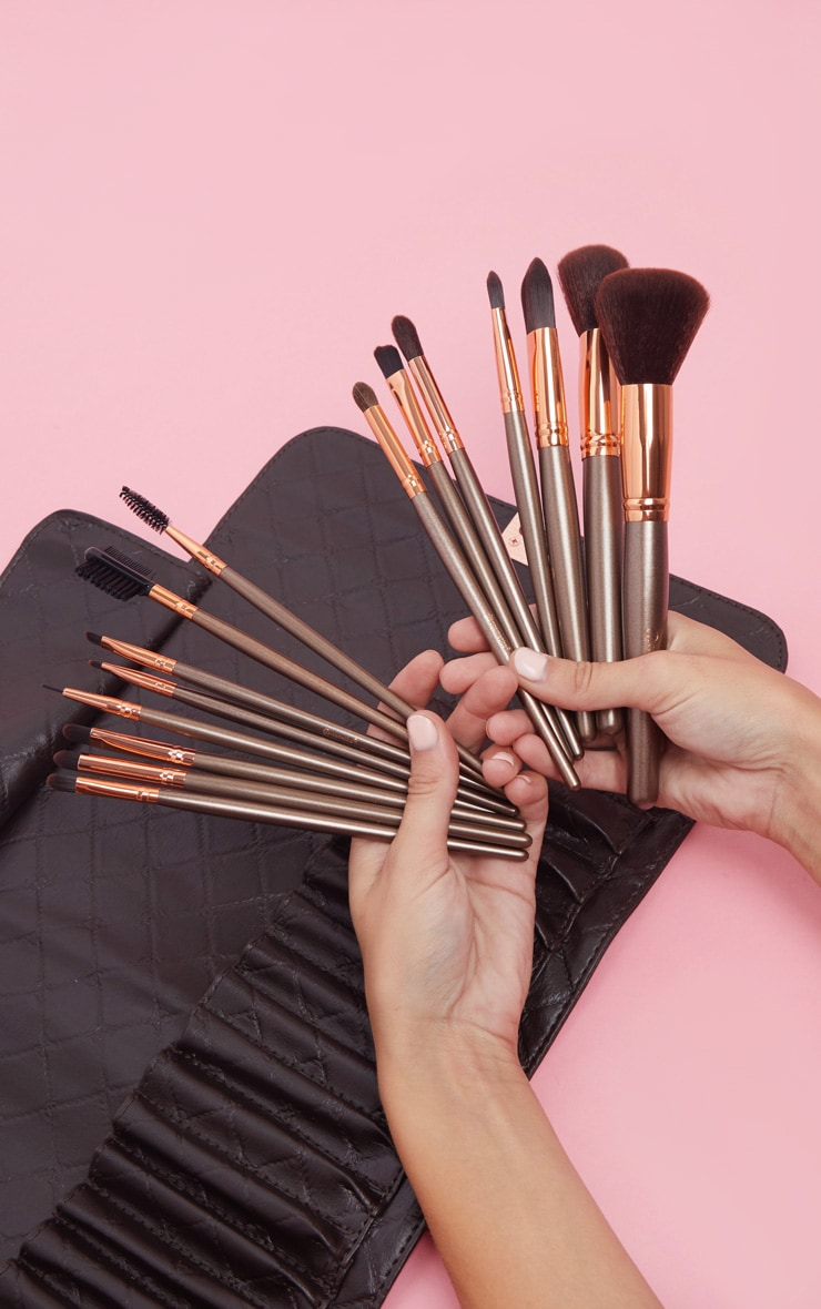 Bh Cosmetics Rose Gold 15 Piece Brush Set by Prettylittlething