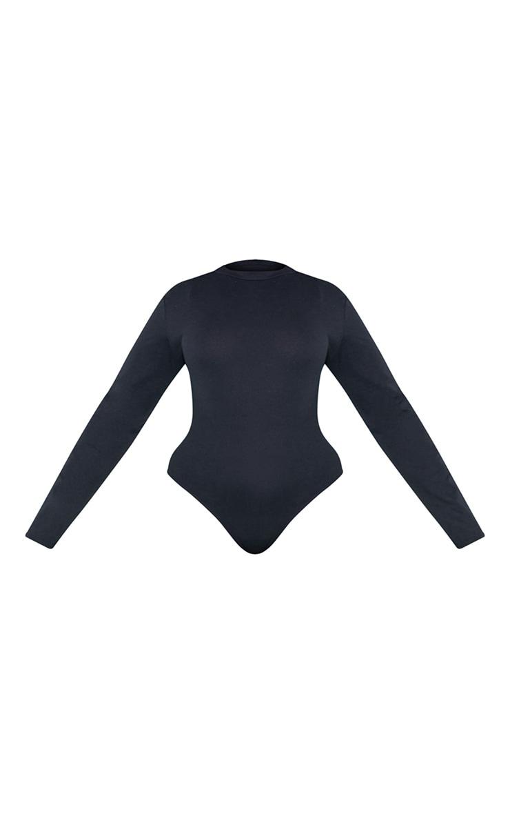 RECYCLED Plus Black Crew Neck Long Sleeve Bodysuit 4