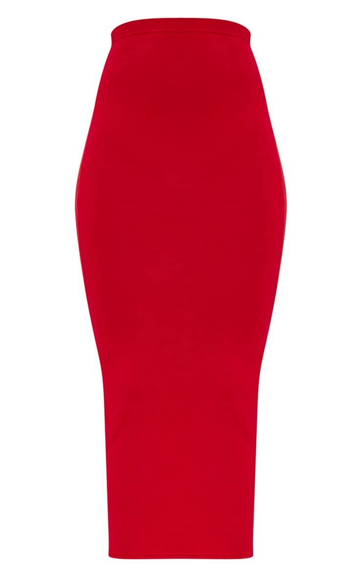 Red/Navy 2 Pack Jersey Midaxi Skirt 7