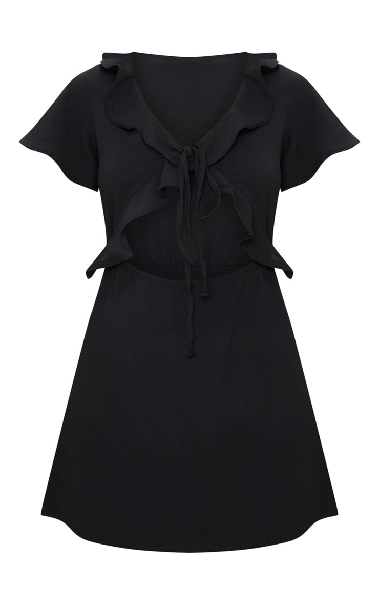 Black Frill Cut Out Tea Dress 3