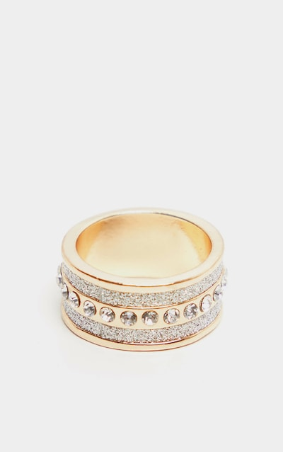 Gold Silver Glitter Rap Ring