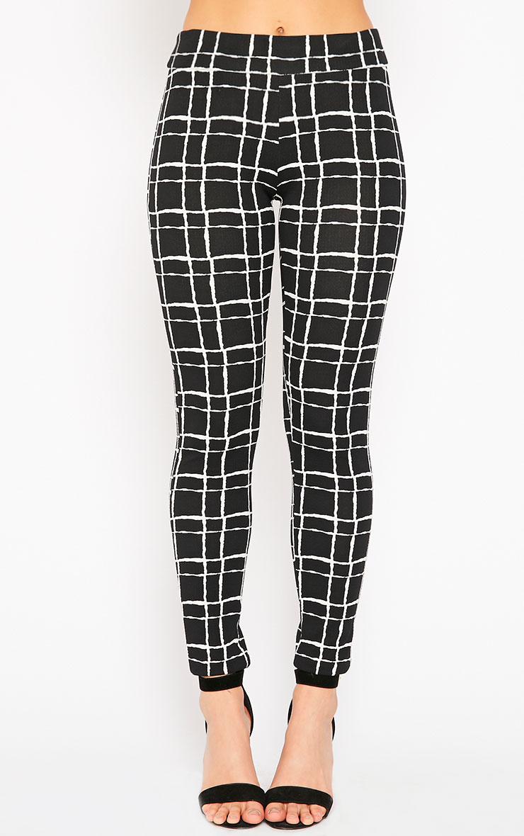 Lesia Black Grid Pants 2