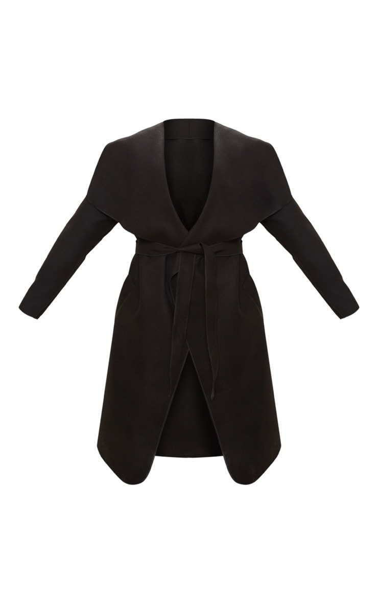 Plus Black Waterfall Coat 3