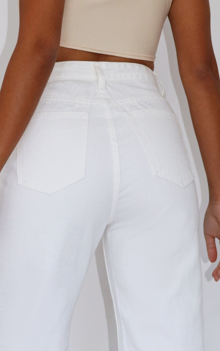 Petite White Split Hem Denim Jeans 4