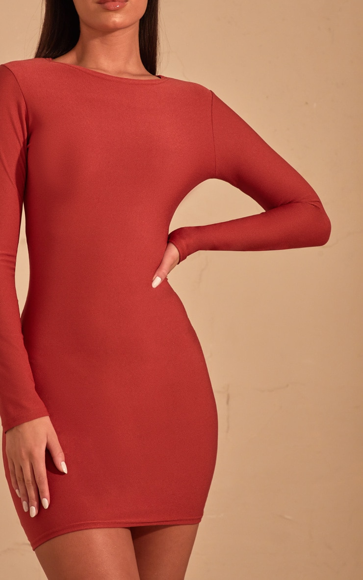 Auburn Long Sleeve Bodycon Dress  5