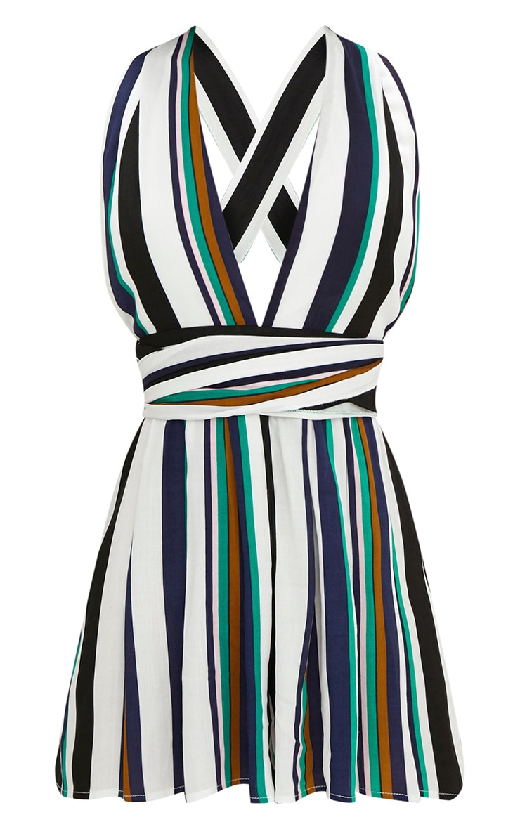 Stripe Tie Back Playsuit 3