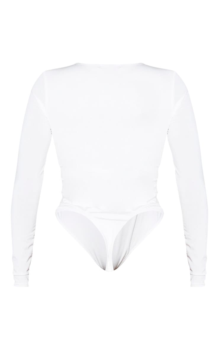 Shape White Long Sleeve Slinky Bodysuit 6