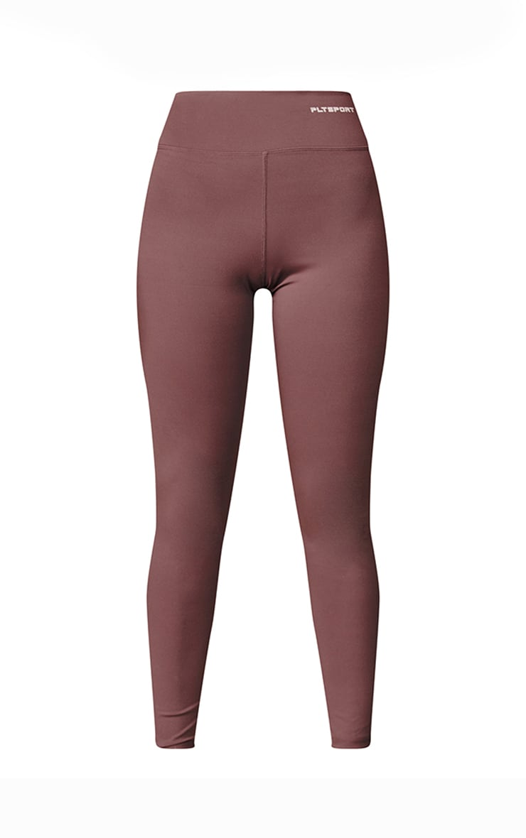 PRETTYLITTLETHING Chocolate Sculpt Luxe Gym Leggings 5