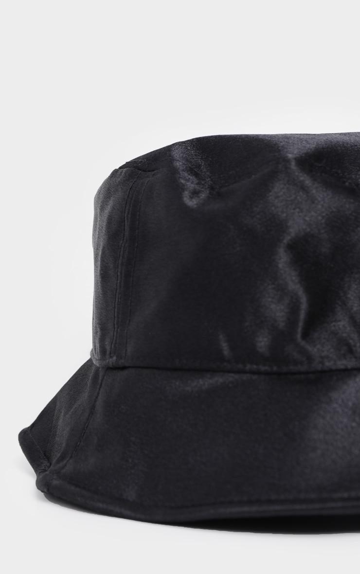 Black Satin Bucket Hat 3