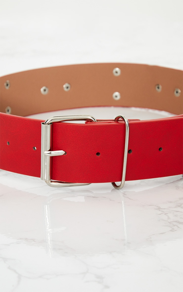 Red Chained Hoops Belt 6