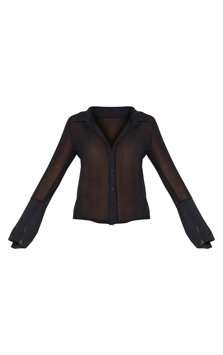 Black Sheer Chiffon Shirt 5