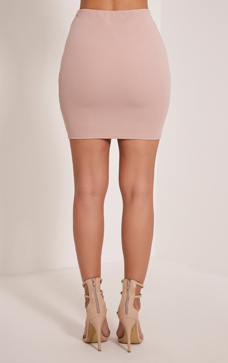 Milah Nude Scuba Mini Skirt 5