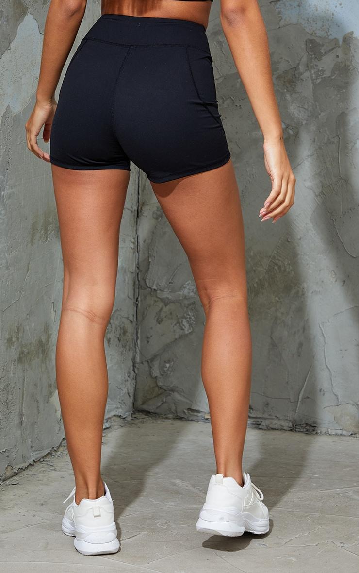 Black Sport Sculpt Luxe Booty Shorts 3