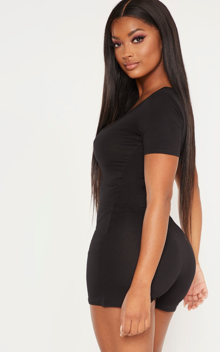 Shape Black Short Sleeve Unitard 2