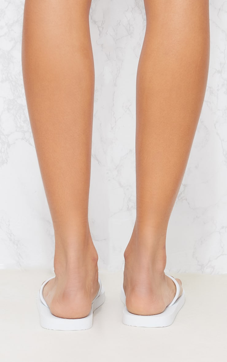 White & Pink Flip Flop 2 Pack 8