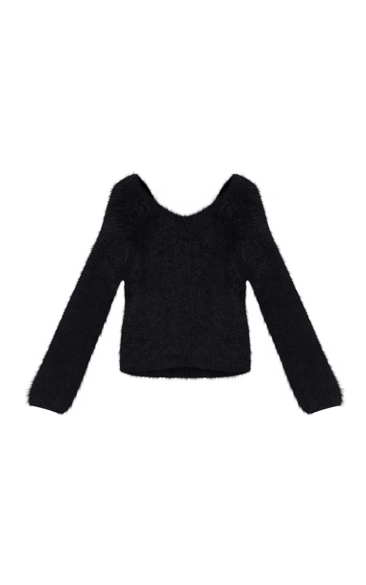 Black Eyelash Knitted Sweater 3