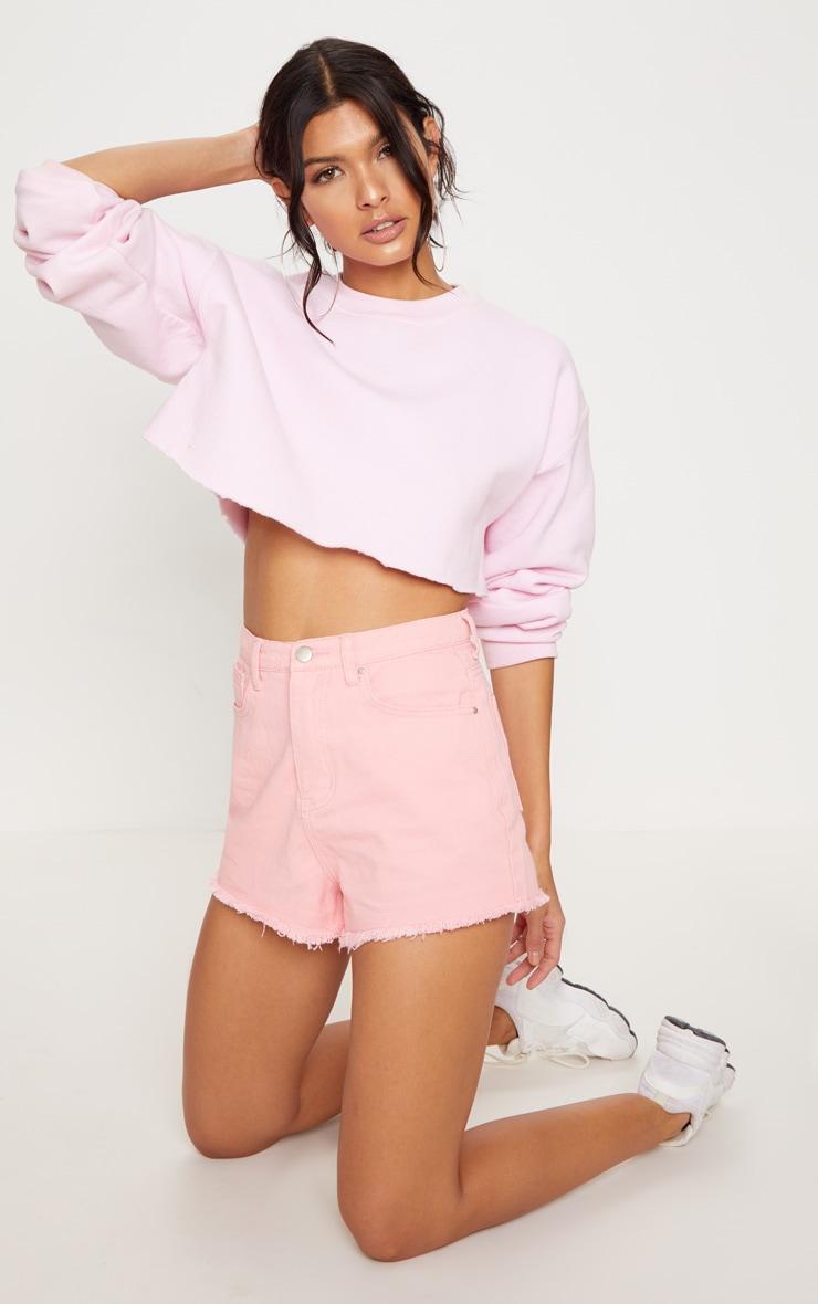 Pink Shelby Denim Short