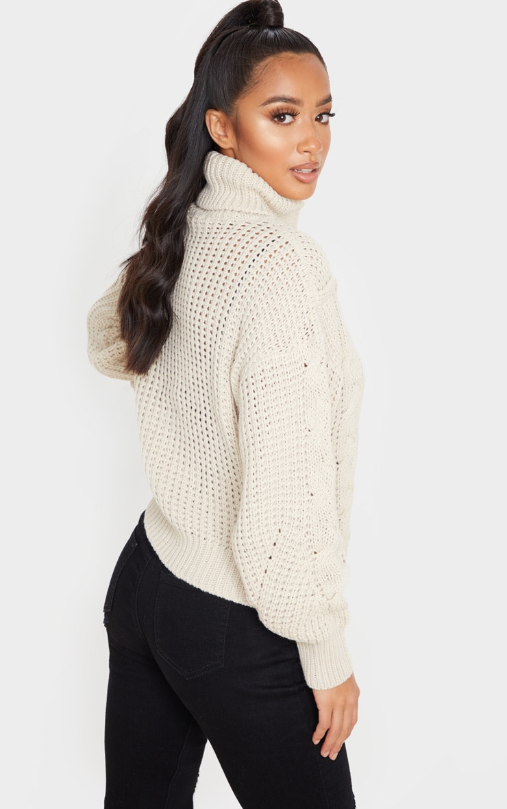 Petite Stone Oversized Chunky Knit Sweater 2