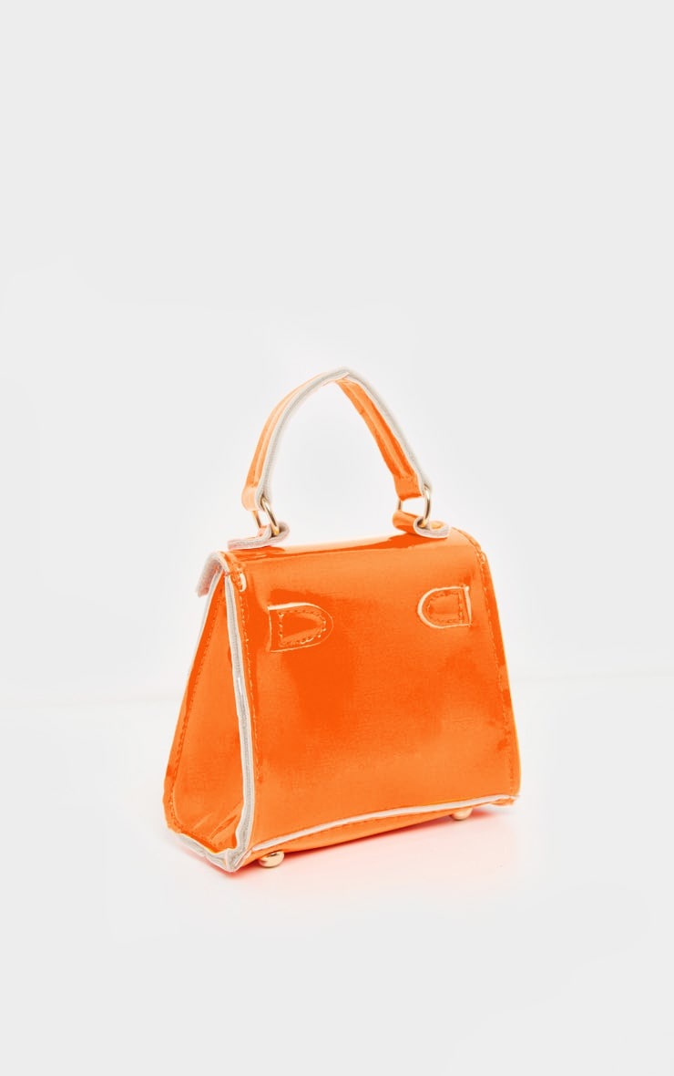 Neon Orange Micro Mini Bag 4