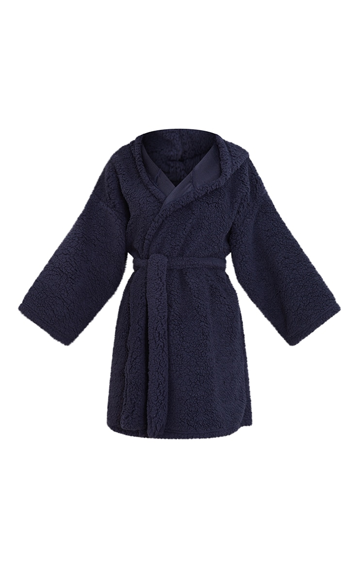 Navy Borg Dressing Gown 5