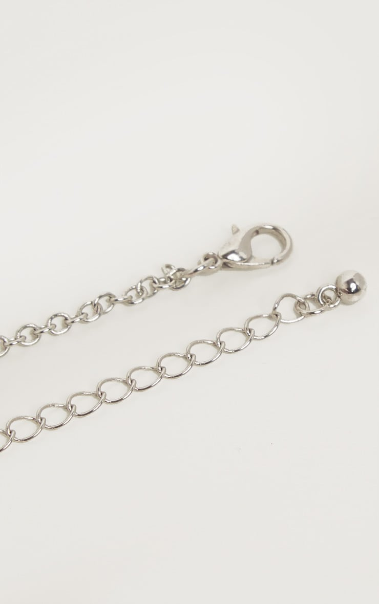 Gold And Silver Double Circle Necklace 4