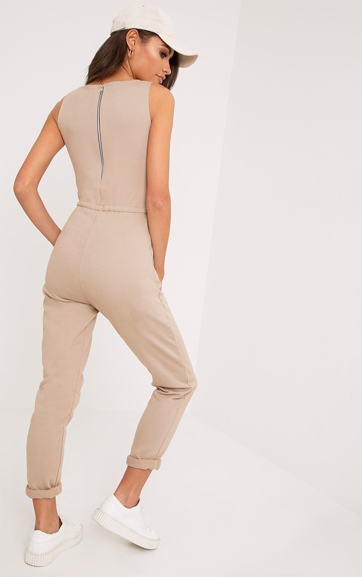 Sofie Nikki Taupe Sweat Jumpsuit  2