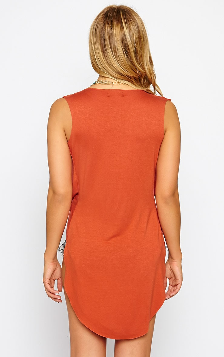 Jodeane Rust Twist Front Sleeveless Top 2