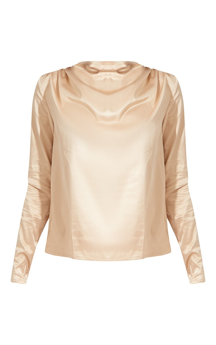 Tall Champagne High Neck Blouse 5