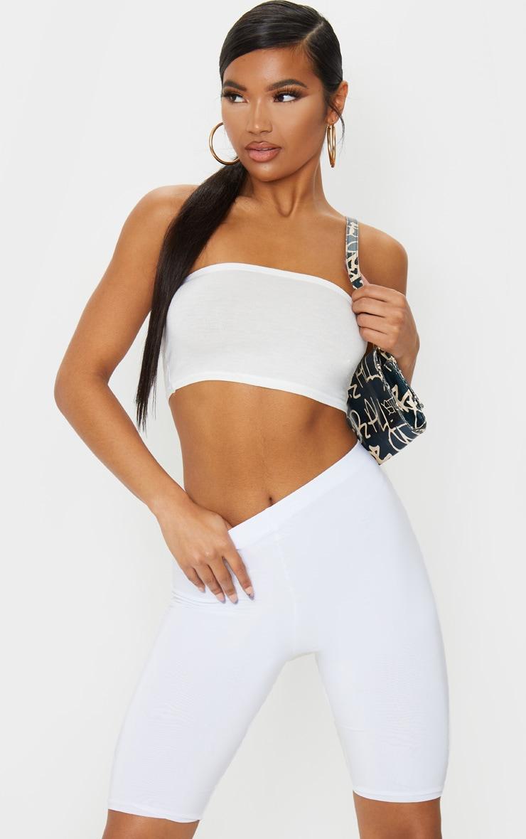 Short-legging slinky long blanc 1