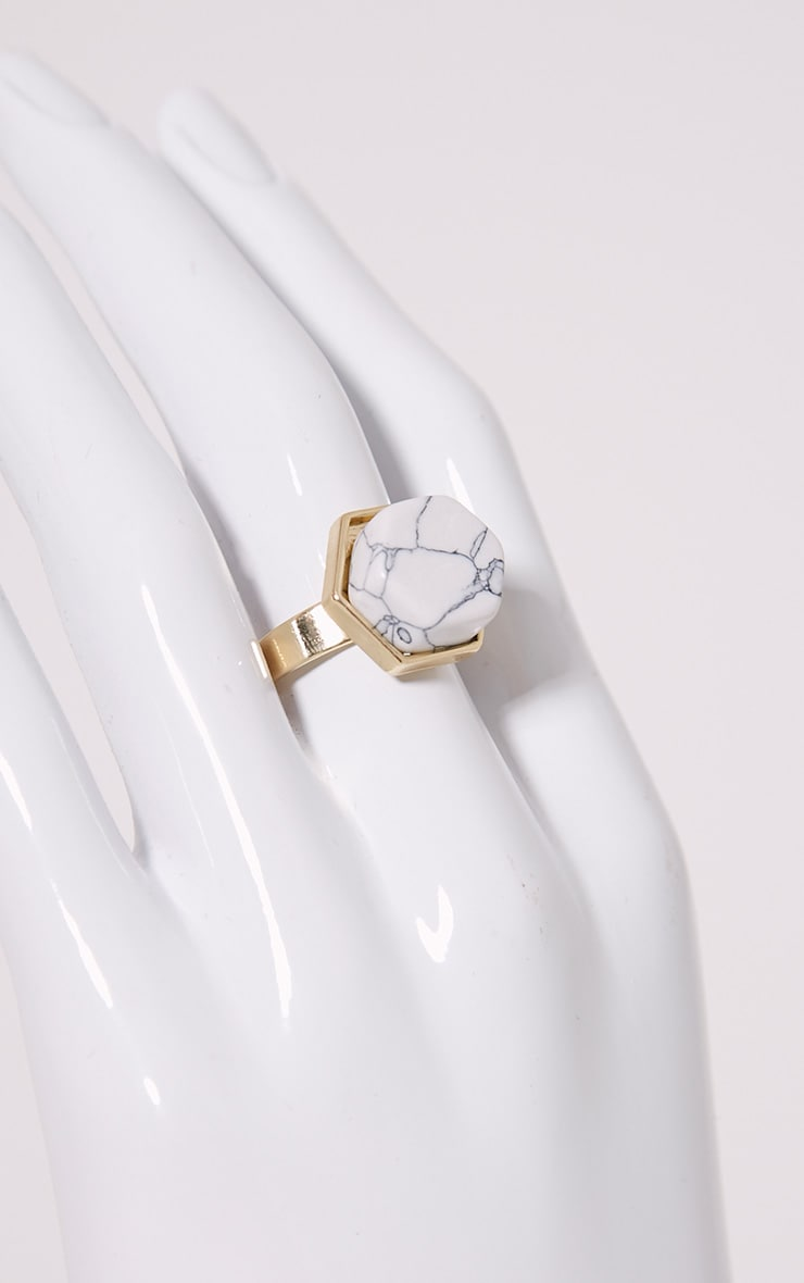 Talia Gold Statement Stone Ring 2