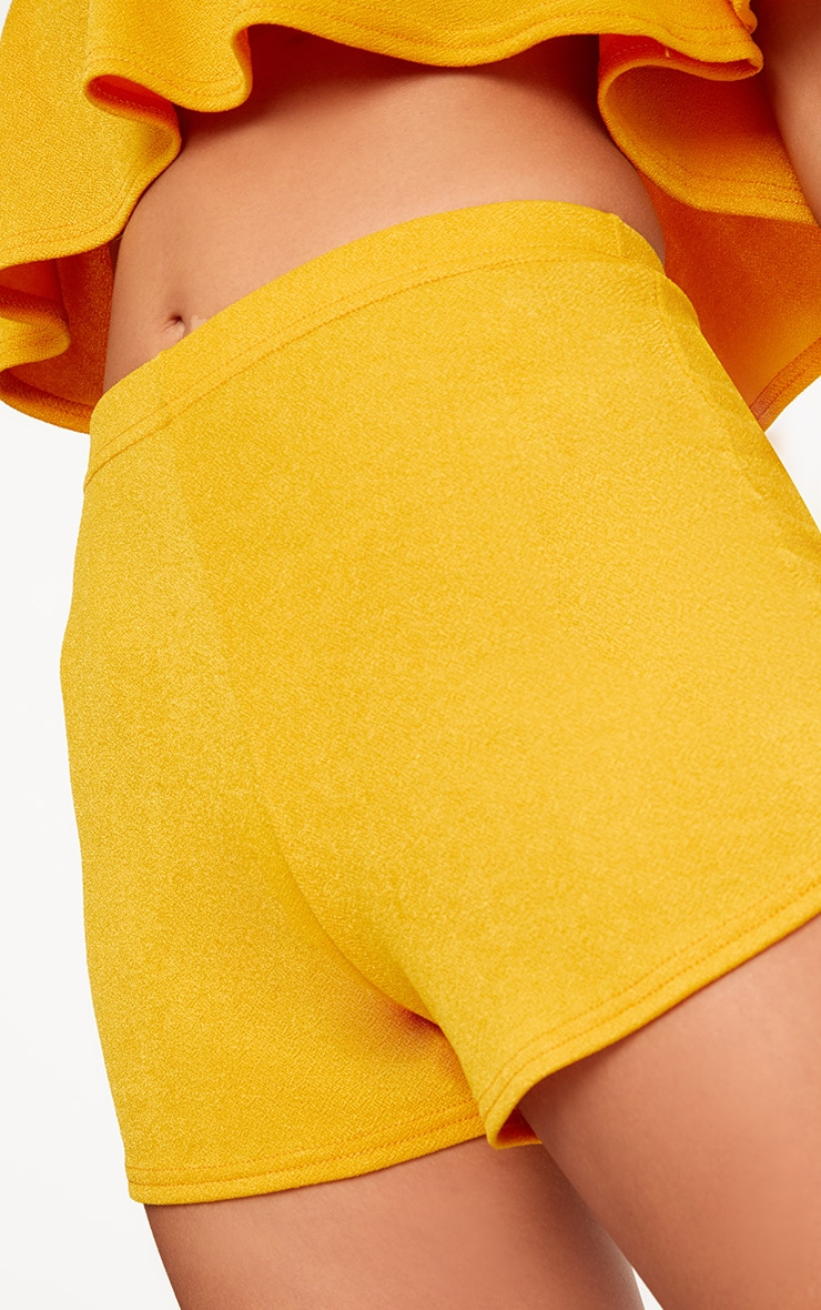 Mustard High Waisted Co-ord Shorts 6