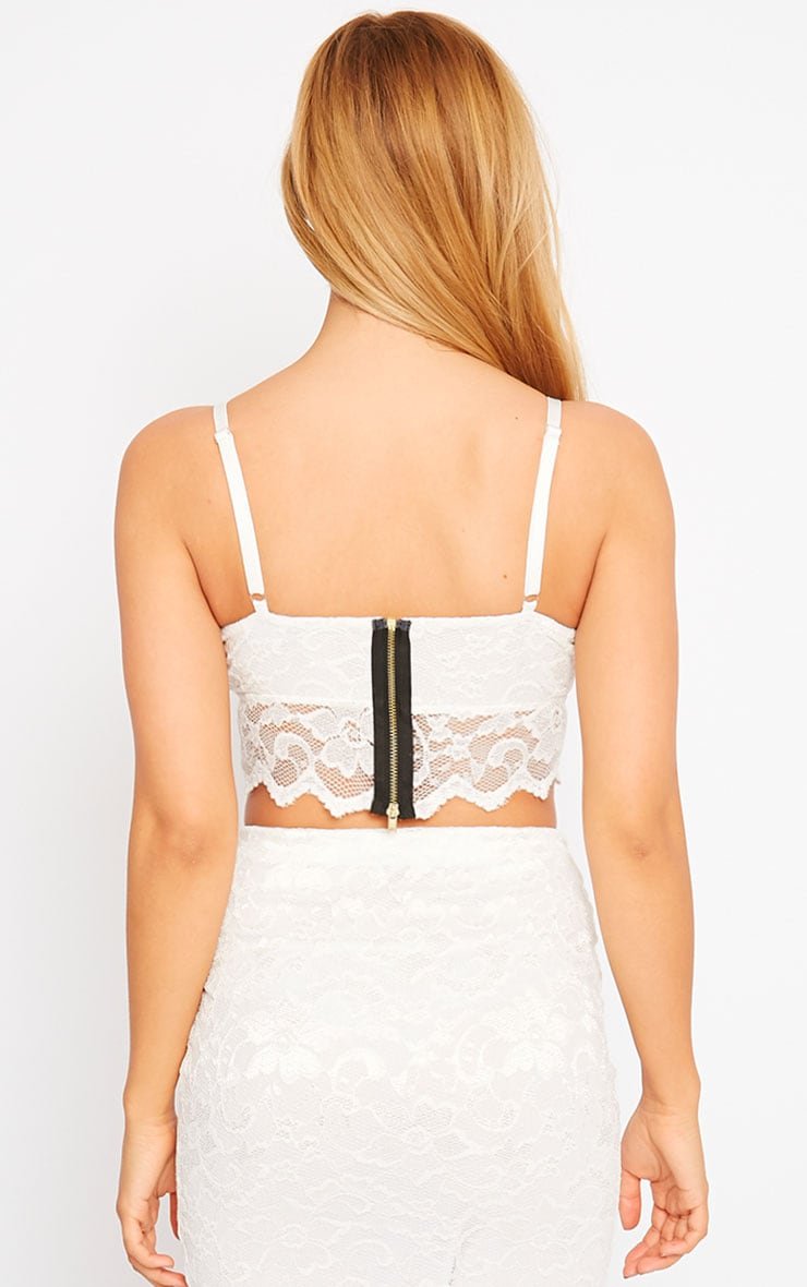 Corinna White Lace Bralet 2
