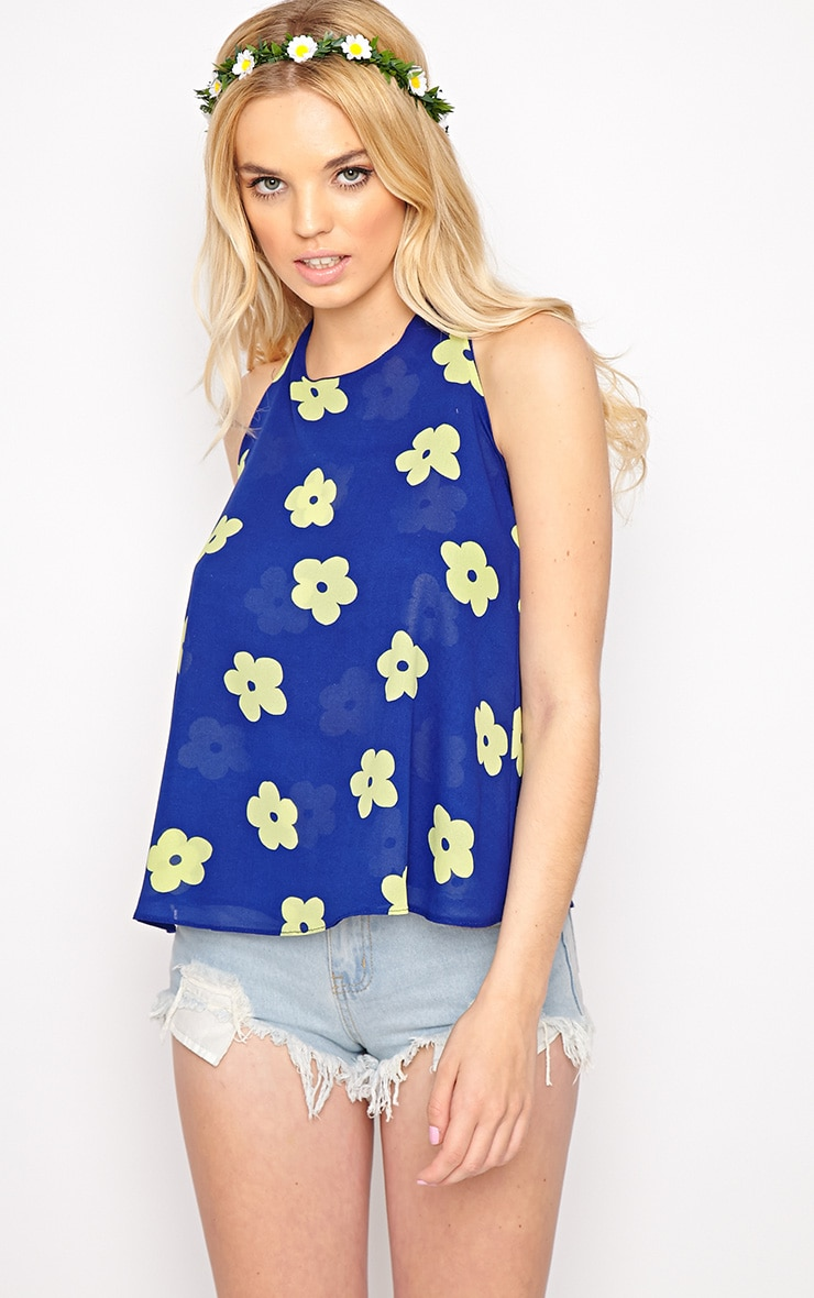 Lydia Green Floral Swing Vest  3