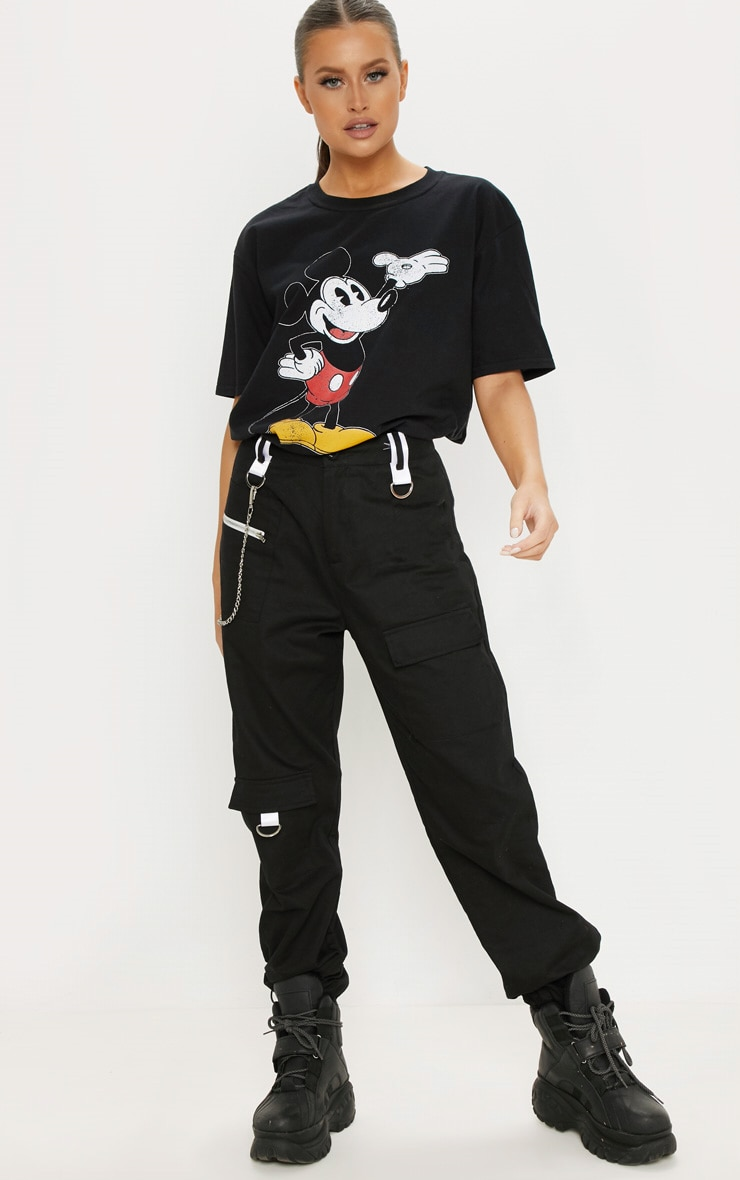 Black Mickey Mouse Disney Printed T Shirt 4