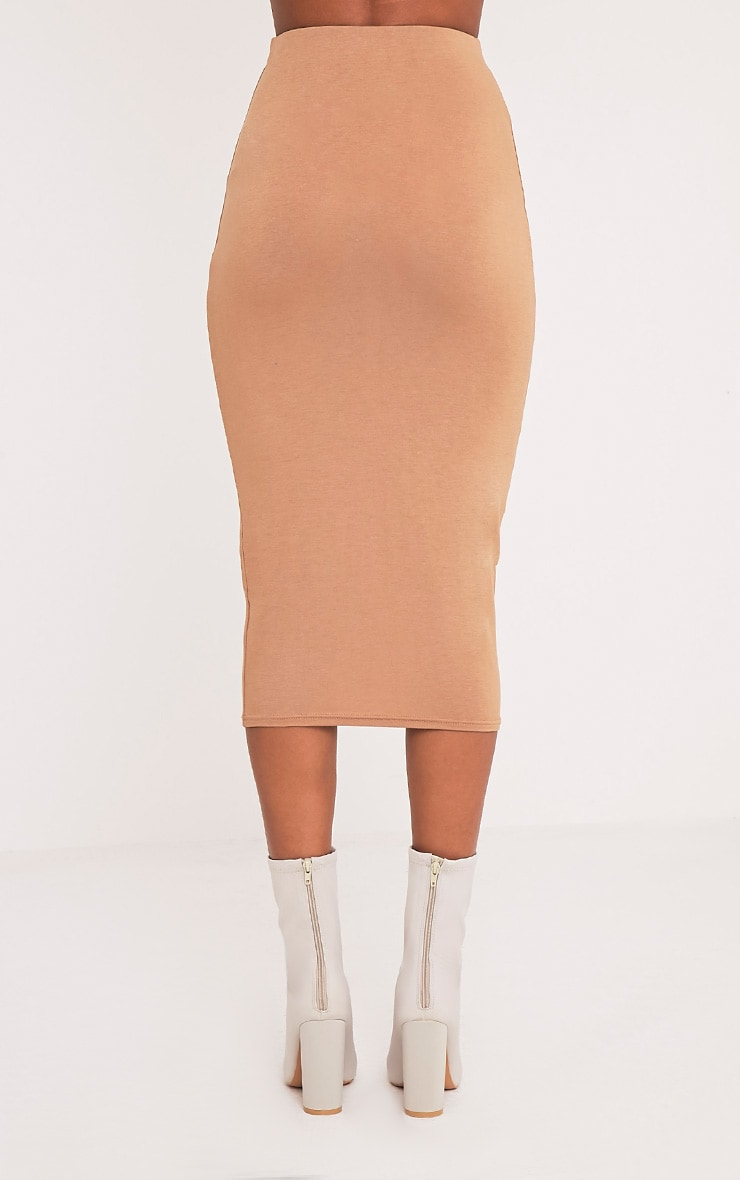 Basic Camel Longline Midi Skirt 2