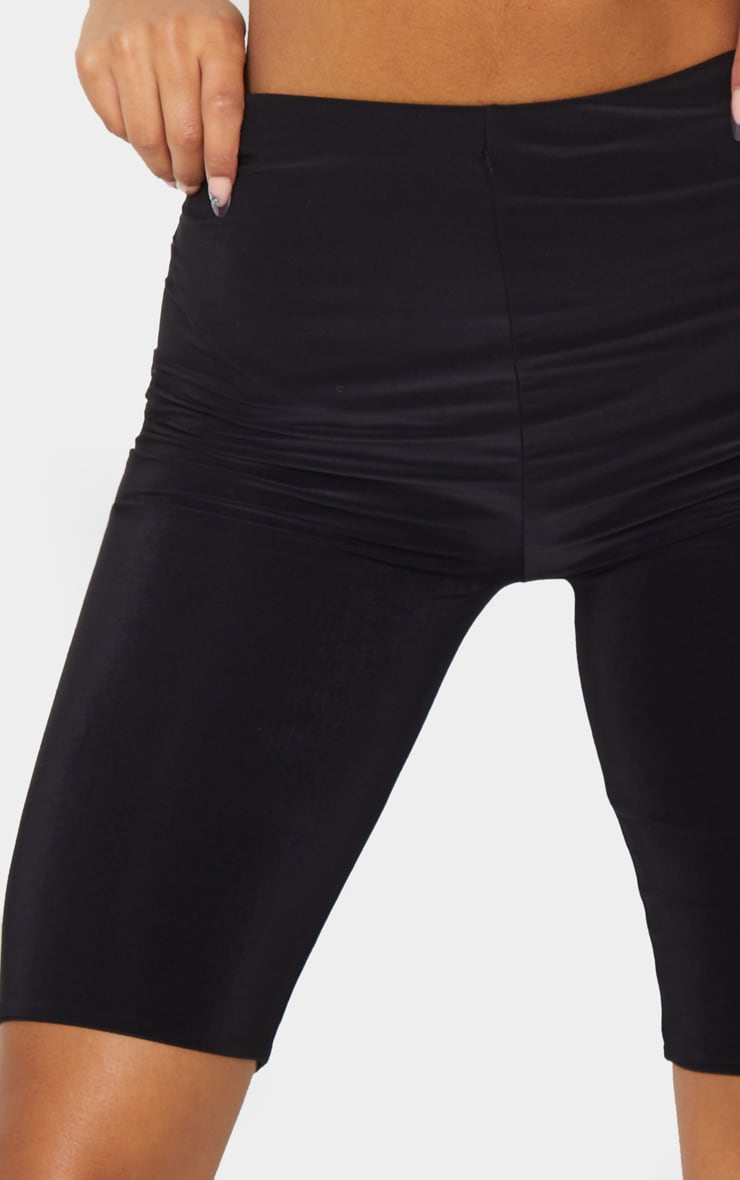 Black Slinky Longline Bike Short 5