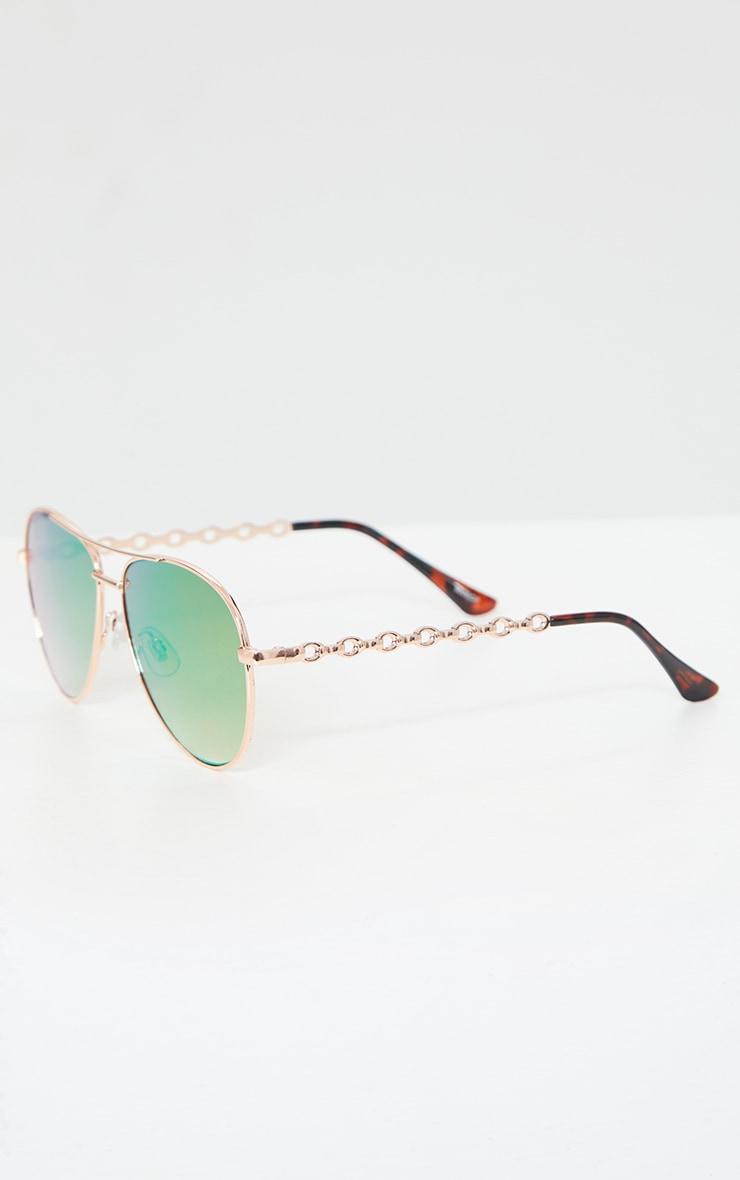 Pink Ombre Lens Aviator Sunglasses 3