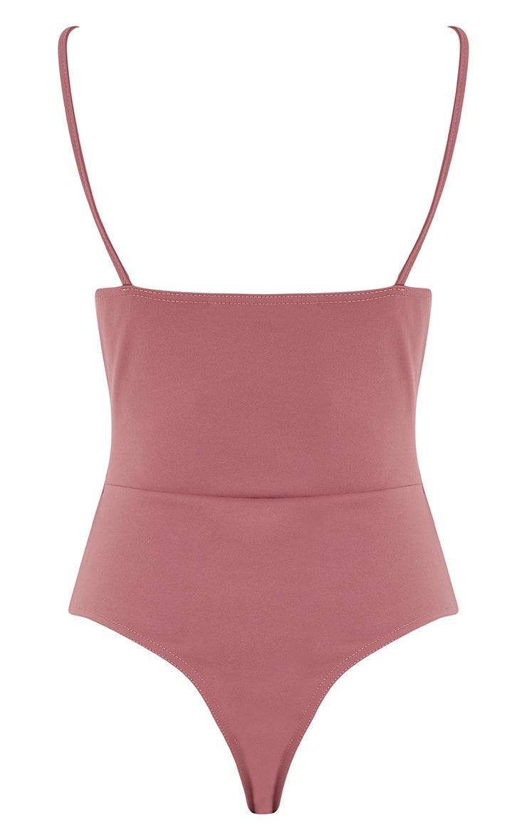 Amora Rose Cut Out Thong Bodysuit 4