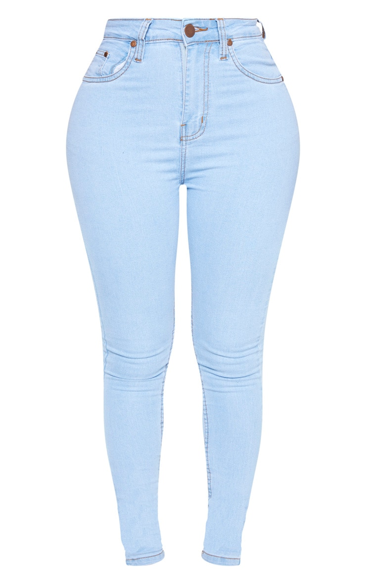 Shape Light Wash High Waist Super Stretch Skinny Jeans 3
