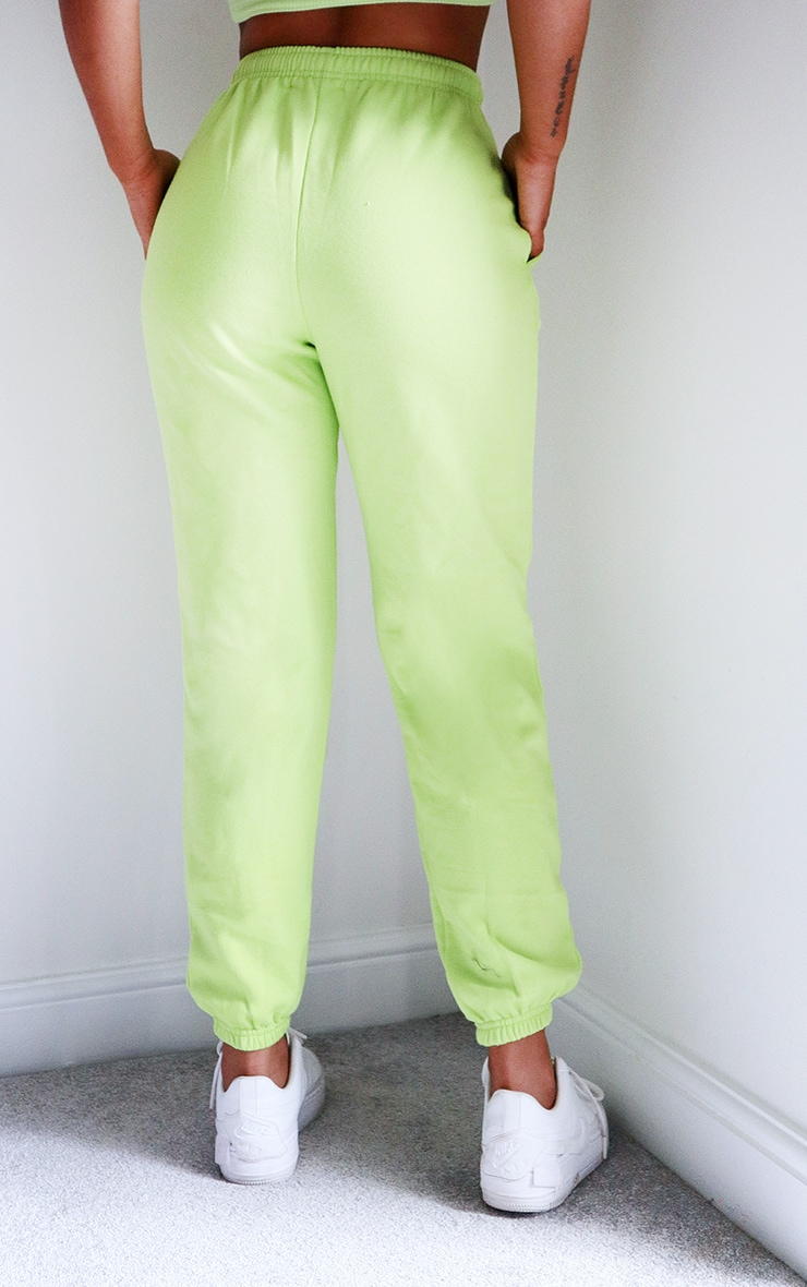 Bright Green Casual Joggers 3