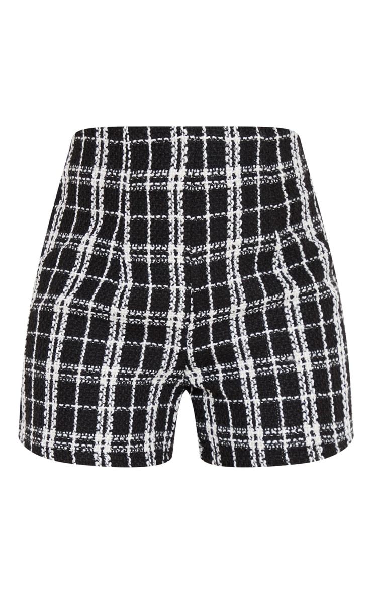 Black Tweed Tailored Short 3