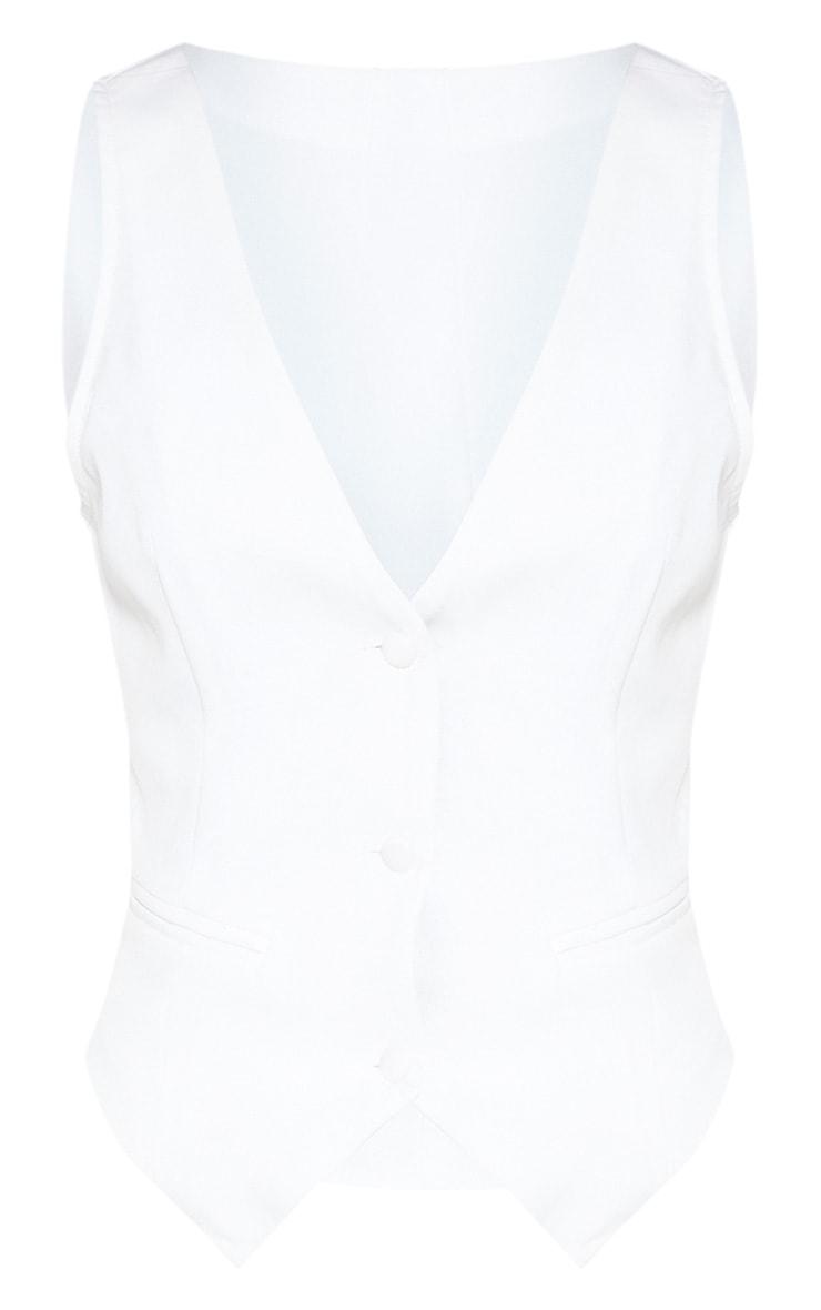Petite White Tuxedo Waistcoat 3