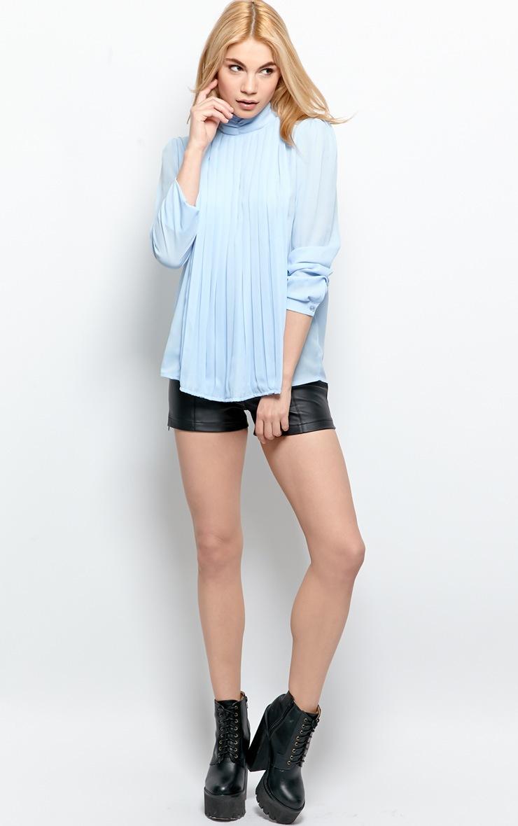 Maisy Pale Blue Pleated Shirt 4