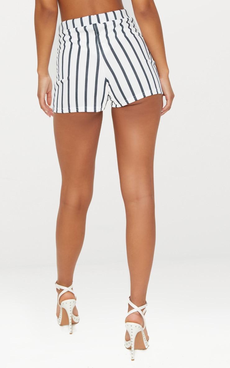 Black Stripe Suit Shorts 4