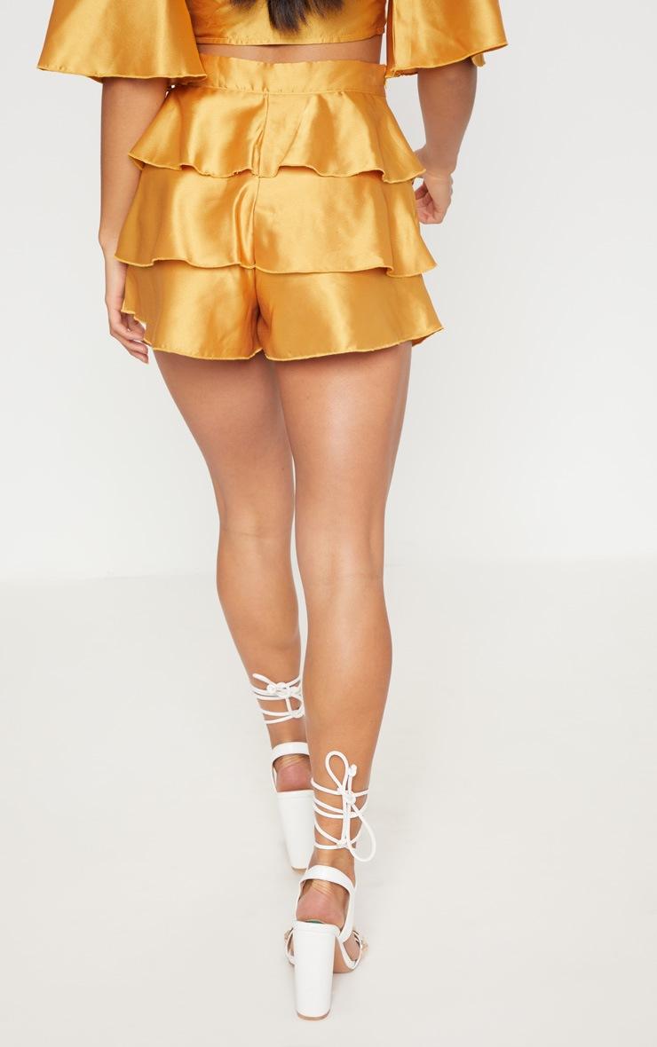 Petite Mustard Frill Shorts 4