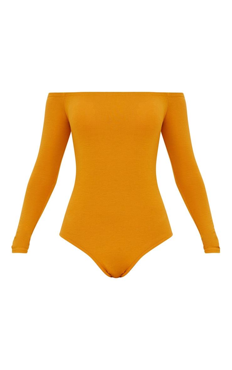 Basic Mustard Bardot Bodysuit 3
