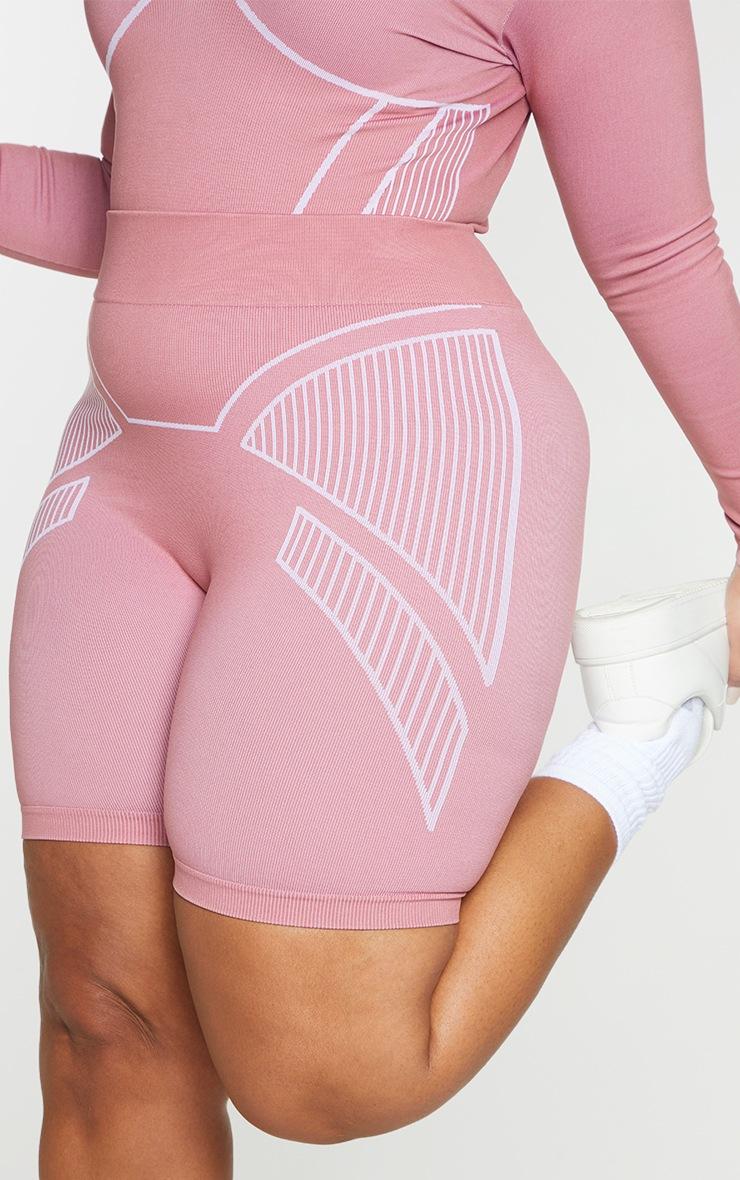 Plus Rose Seamless Detail Shorts 5