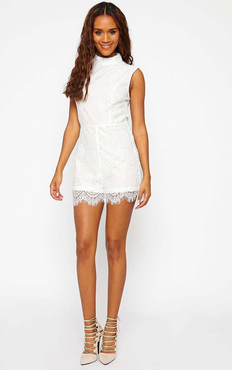 Xara White Lace Playsuit 3