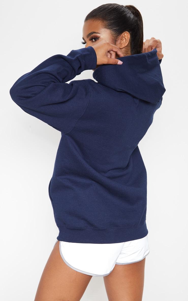 Navy Fleece Zip Hoodie 2