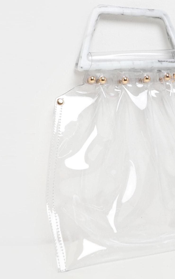 451ff52147fa Clear Flat Tote Resin Handle Grab Bag image 4